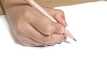 鉛筆の持ち方7